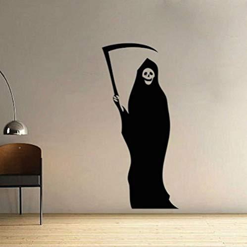 JXLK Grim Reaper Halloween Adesivo per la camera degli adolescenti Autoadesivo Adesivi murali in vinile Camera da letto Camera dei bambini Decorazione Murale 91x43 cm
