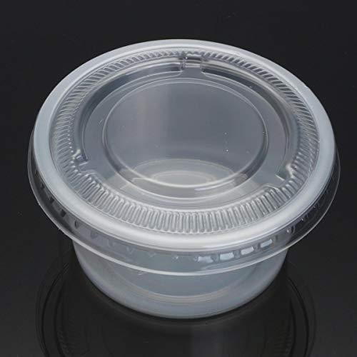 Einweg-Tassen für Suppen und Saucen, Kunststoff, transparent, 150 ml, 100 Stück