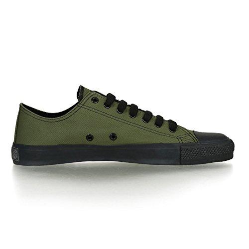 Ethletic Black Cap vegan LoCut - Farbe camping green / black aus Bio-Baumwolle Größe 42 - 5