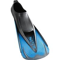 Seac Speed S Aletas Cortas de natación para Entrenamientos en la Piscina y en el mar, Unisex, Azul/Negro, 36/37