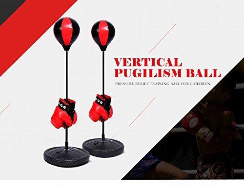 Zerone Höhe verstellbares Punchingball Boxen Set mit Boxhandschuhen und Pumpe für Kinder,Jugendliche(70-105cm)