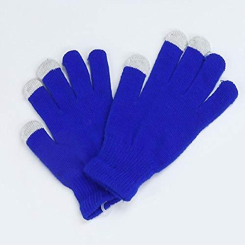 FEICHAIQAZ Guanti Touch Screen Winter Warm Glove Monochrome per Donna, Blu
