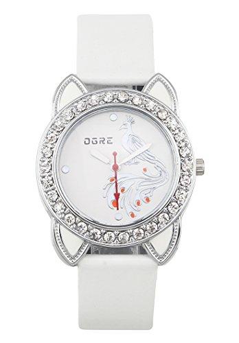 OGRE Analog White Dial Women's Watch - Lad-005 White