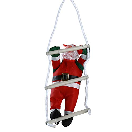 GOMYIE Christmas Santa Climbing Lanyard Leiter Weihnachtsbaum hängen Ornament Party Tür Dekor (Stil 1) -