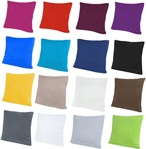 NatureMark 2er Pack Jersey Kissenbezug Kissenhülle Kissenbezüge Seitenschläferkissen Nackenkissen viele Größen und Farben ÖKO-TEX (40 x 40 cm, Navy blau) -
