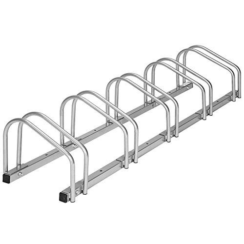 TecTake Fahrradständer für Fahrräder Fahrradparker Bike Fahrrad Ständer Rad außen - Diverse Modelle - (für 5 Fahrräder | Nr. 402379)