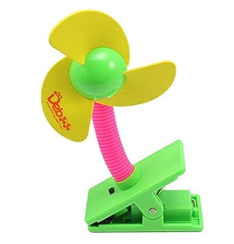 TININNA Mini Tragbarer Baby Clip Ventilator Tischventilatoren Tischventilator Batteriebetriebene Miniventilator gelb