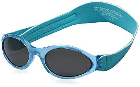 Kidz Banz Kid's ABBAQ Aqua Blue (0-2 years) Oval Sunglasses, Aqua Blue