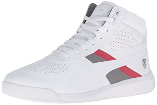Puma Podio Mid SF Synthétique Baskets Puma White-Puma White