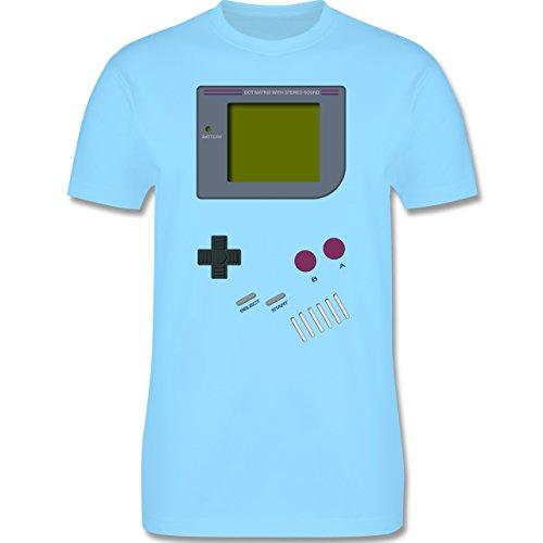 Nerds & Geeks - Gameboy - XL - Hellblau - L190 - Herren T-Shirt Rundhals