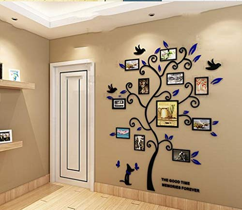 DBSCD Dekoration wandaufkleber 3D Blume Wand Acryl Kombination Rahmen Aufkleber Künstler Wandbild Dekoration (ohne Foto) (Größe: 146 * 175 cm)