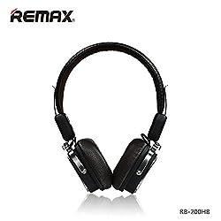 Original REMAX 200HB Adjustable Soft Leather AUX Wireless Bluetooth 4.1 Headphone Headset Beige