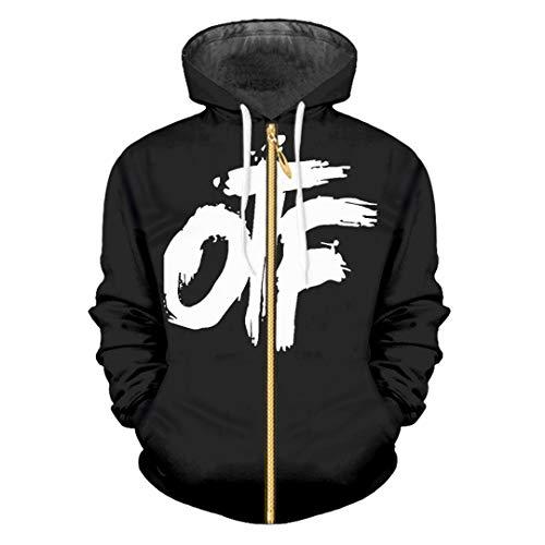 Warme lässige Kapuzenpullis Schwarzes 3D Sweatshirt Street Punk mit Kapuze Trainingsanzüge Mäntel OTF Black 6XL (Vans-junioren)