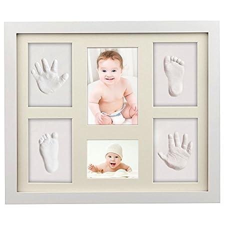 Baby Handabdruck, ToWinle Bilderrahmen Baby Handabdruck und Fußabdruck Personalisierter Bilderrahmen aus Holz mit…