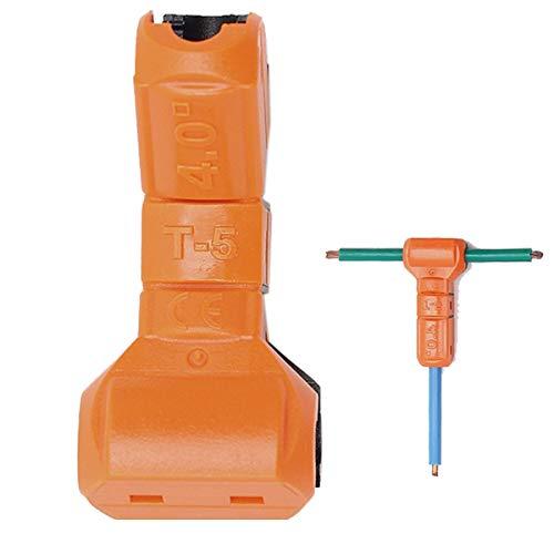 Conectores de cable eléctrico Abrazadera Terminal Bloque Conector, naranja