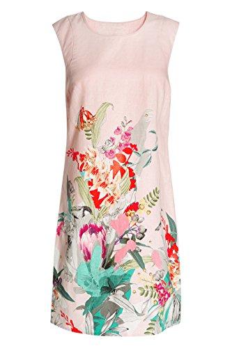 next Robe en lin mélangé à motif floral Tall Femme Rose