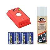 MarderFix - Akustik Batterie Inklusive Abwehrspray und Batterien - Marderabwehr im Auto, Haus und Hof