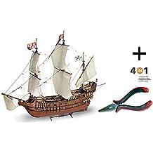 Outletdelocio. Artesania Latina 22452N. Maqueta de barco en madera. San Francisco ll. Escala 1/90 + Multiherramienta 4 en 1. 45963/36054