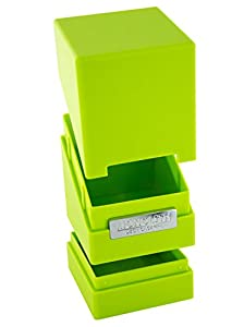 Êltimo Guardia - Caja para tarjetas de Monolith cubierta Case Green Light 100 tamaño estándar