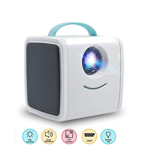 Genmaisima Mini Projektor Q2 700 Lumen Kinder Bildung Kindergeschenk Eltern-Kind Tragbarer Projektor Mini LED TV Home Beamer Nec Led-tv