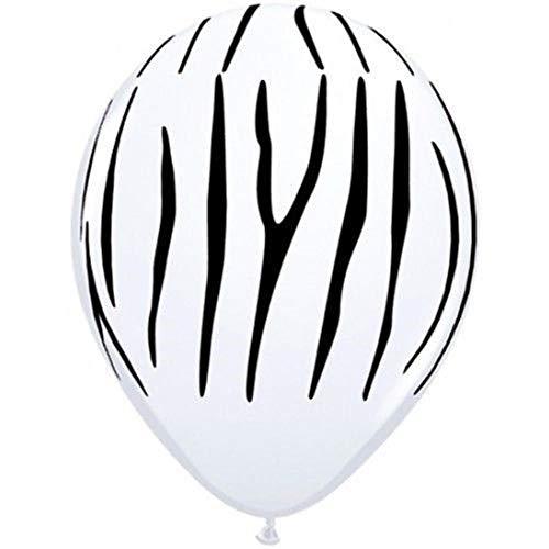 PAIZEP 20pcs dunkelgrüne runde Latex-Ballone, die Geburtstagsfeier-Tierlatex-Streifen-Ballon-Dekor-Kinder-Versorgungsmaterialien, 12inch Zebra-StreifenWedding sind -
