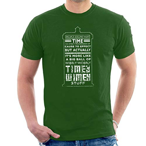 Tardis Kostüm Mädchen - Tardis Time Quote White Text Men's T-Shirt S