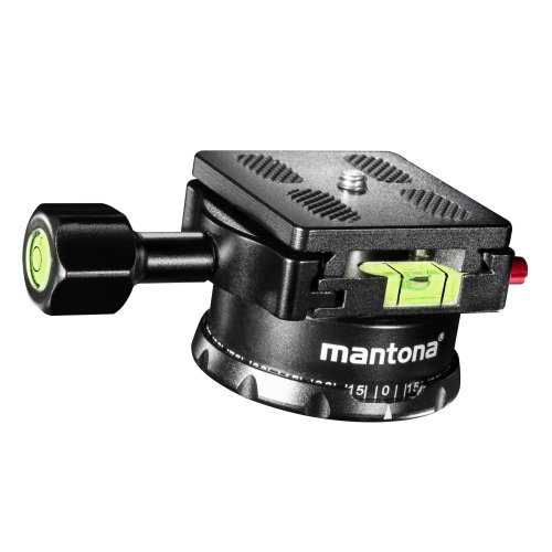 Mantona Panoramakopf 360 Grad inkl. Schnellwechselplatte und Wasserwaage (360-panorama-foto)