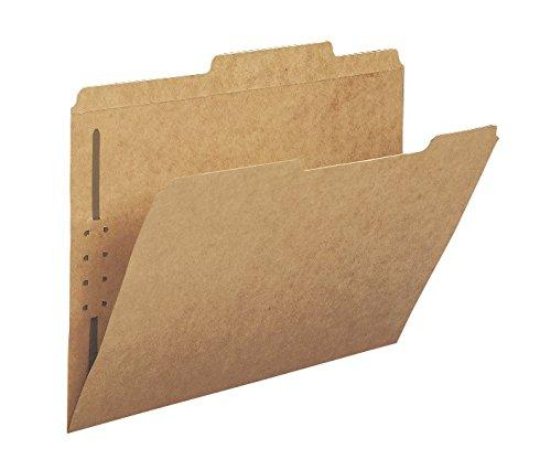 Smead Schnellhefter, 2 Verschlüsse, verstärkt, gerade geschnittene Tab, Briefgröße, Kraftpapier, 50 Stück pro Box (14813) 1/3-Ausschnitt 1 Fastener Kraft - Ordner-verschluss Größe Brief