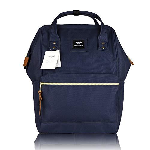 49 - Himawari - Mochila para la Escuela, Impermeable, Bolsa de Viaje Vintage para Mujer, portátil de 13 Pulgadas para Estudiantes Azul Azul 37CM