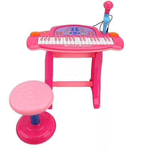 ukbazar-elettronica-per-bambini-36-tastiera-pianoforte-record-sgabello-con-microfono-colore-rosa