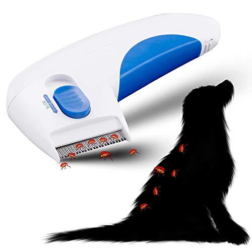 Elektronischer Läuse-kamm (Elektrischer Flohkamm für Hunde und Katzen, Haustier Ungeziefer Kämme Gegen Flöhe Zecken und Läuse, Kills & Stuns-Flöhe, 100% Sanft & Effektiv, Perfektes Hund Reinigung Capture Tool)