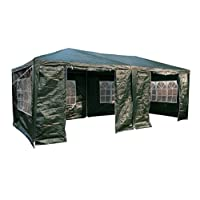 AirWave 3 x 6m Party Tent Gazebo Marquee with 2 x Unique WindBars and Side Panels 120g Waterproof Canopy 15