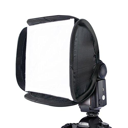 "Phot-R 9"" 23cm Flash Softbox Diffuser, Universal Portable Flash Modifier Collapsible DSLR Camera Flashgun Speedlite"