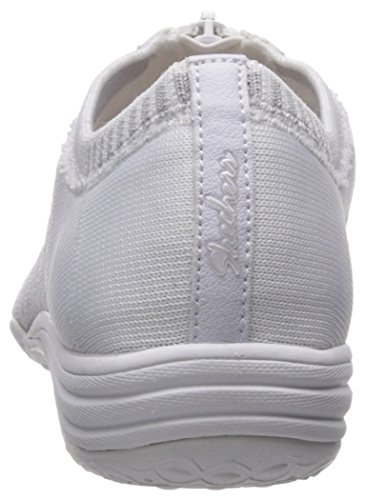 Skechers Unity-Transcend, Baskets Enfiler Femme White/Silver