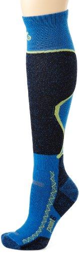 Unbekannt point6Ski Medium über der Wade Socken, Jungen damen Mädchen, blau