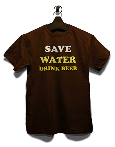 Save Water Drink Beer T-Shirt Braun