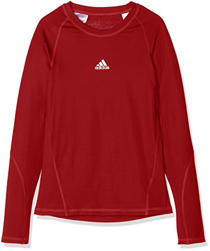 adidas Kinder Alphaskin Longsleeve Funktions Shirt, Power Red, 116