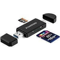 KiWiBiRD Lettore di Schede USB 3.1 Tipo C & USB 3.0 8-in-1 per schede SDXC, SD, MMC, RS-MMC, SDHC, Micro SD, Micro SDXC, Micro SDHC [Supporta le schede UHS-I] - NERO