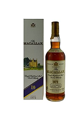 Rarität: The Macallan Whisky 0,7l Jahrgang 1972, 18 Jahre alt - Single Highland Malt Scotch Whisky