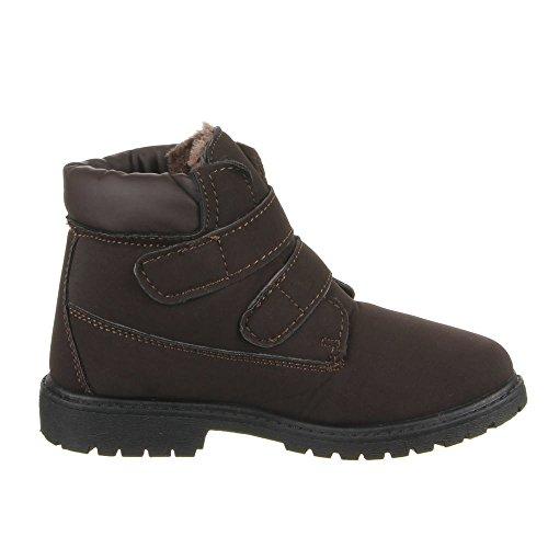Enfants - 2 chaussures 6301C bOOTS Marron - Marron foncé