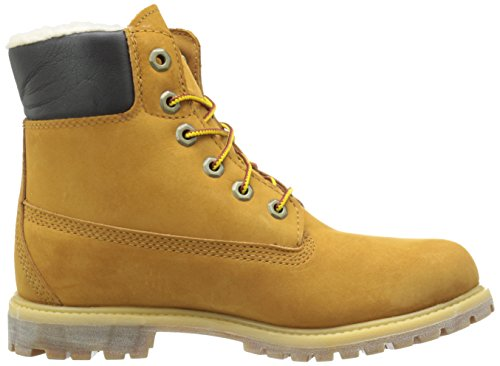Timberland Womens 6-Inch Premium Fleece Leather Boots Wheat