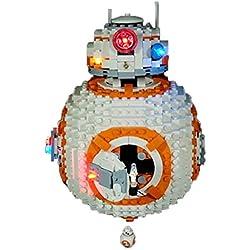 Poxl Jeu De Lumières pour BB-8, LED Light LED Kit de Éclairage Compatible avec Lego 75187 - Lego Modèle Non Incluse