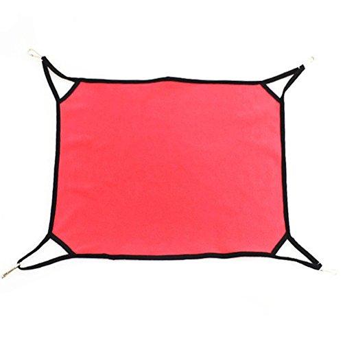 Ihoy amaca per gatti animale domestico amaca in pile caldo swing letto reversibile duplice uso con 4 ganci per estate inverno (rosa)