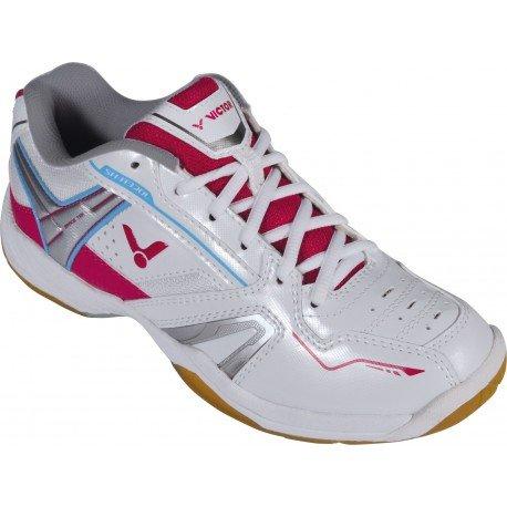 UK8.5 YONEX SHB-02LX Ladies Badminton Shoes White//Coral