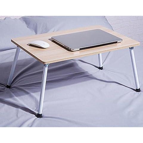 BBSLT Mesa plegable portátil de moda, huesos perezosos cama escritorio del estudio, 58 * 38 * 29 cm pequeño escritorio , c