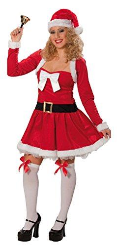 Karneval-Klamotten Weihnachtsfrau Kostüm sexy Nikolaus-Kostüm Damen rot-weiß Weihnachtskleid inkl. Bolero Größe 36