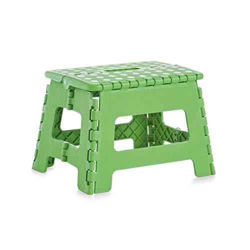 """Zeller 13734 Klapphocker \""""Color\"""", Kunststoff 32 x 25 x 22 cm, grün"""