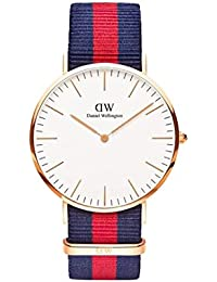 R.B. Enterprise Presents Luxurious Slim Dial Blue Red Blue Stylish Belt Analog Watch For Boys And Girls Dw. |...