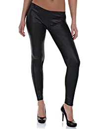 Distressed Legging imitation cuir Wet-Look Taille S-M 32, 34, 36