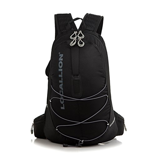 Cuckoo 20L Nylon Waterproof Wandern Daypack Leichter Rucksack für Outdoor Radfahren Laufen Camping Biking Schwarz